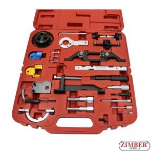 Engine timing locking tools for OPEL VAUXHALL-GM, 26pcs - ZR-36ETTS91 - ZIMBER-TOOLS.