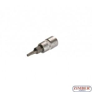 "1/4"" Star socket bit 32mmL, Т25 (ZR-15BS14T25) - ZIMBER TOOLS"