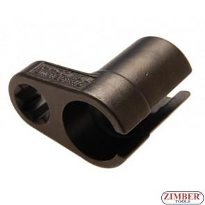 "Oxygen Sensor Socket, 22 mm (7/8"") x 50 mm, 1/2"" drive - BGS"