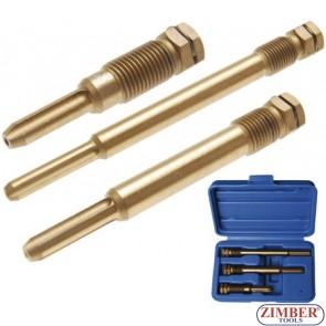 3-piece Glow Plug Reamer Set M10 + 2x M12 - BGS