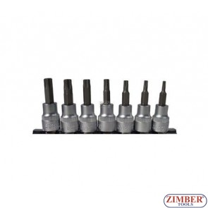 "7-piece Bit Socket Set, T-STAR, 3/8"" - BGS"