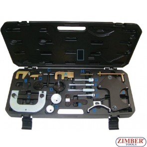 DIESEL ENGINE LOCKING TOOL SET FOR Renault, Nissan & Vauxhall/Opel - ZR-36ETTS299 - ZIMBER TOOLS.