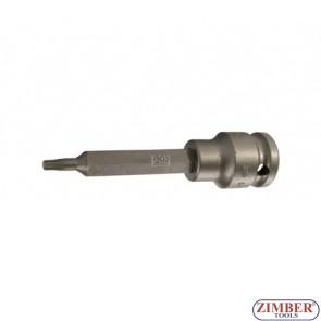 "1/2"" Impact Bit Socket, T-STAR, 100 mm long, T20  - BGS"