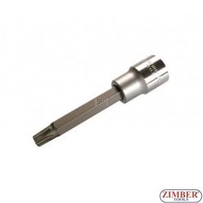 "1/2"" Bit Socket, T-STAR, not tamperproof, 100 mm long, T55 - BGS"