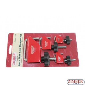 Fluid Line Clamp Set 4pc , ZR-36FLCS04 - ZIMBER TOOLS