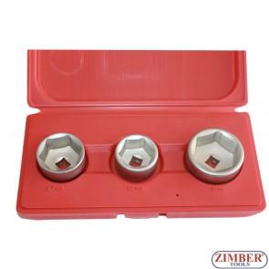 Oil filter socket set 27, 32, 36mm -ZIMBER TOOLS