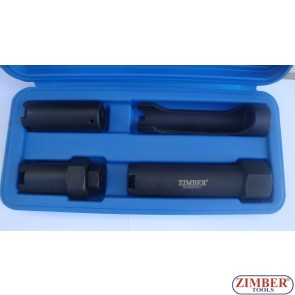 Diesel Engine Injector Socket Set 4pc , Man , Iveco , Scania , Renault /ZR-36ISS04 - ZIMBER TOOLS.