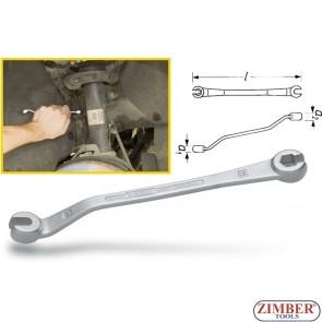 Brake line flare nut wrench 10-11mm. ZR-36BLFNW - ZIMBER TOOLS