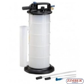 Pneumatic fluid extractor 9 L - ZIMBER