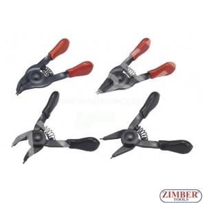 Mini pliers set 4pc. (ZR-36SRP04) - ZIMBER TOOLS