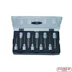 "10pc 1/2"" Ribe Socket Bit Ribe Sizes Include: M5, M6, M7, M8, M9, M10, M12, M13, M14, M16 - FORCE"