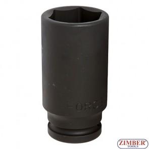 "Impact socket  22mm,3/4"" 6pt. 46510022 - FORCE"