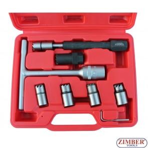 Diesel injector seat cutter set 8pcs ZR-36DISCS08 - ZIMBER-TOOLS.