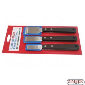 3 PCS SCRAPER KNIFE SET, ZL-6089K - ZIMBER - TOOLS