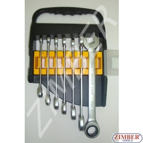Reversible gear wrenches set, 7pcs. - (150362)