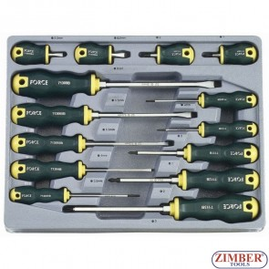 Screwdriver Slotted & Phillips set 14pc.2142 - FORCE