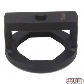 Wheel Capsule And Axle Nut Socket 95-mm, oval 3/4, ZR-36ANSWC95 - ZIMBER TOOLS.