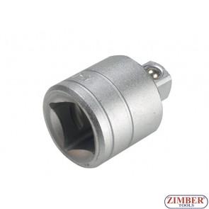 """Adaptor 1/2""""(F) x 3/4""""(M) - (ZR-04A12F34M) - ZIMBER TOOLS"""