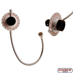 "Angular Gauge with magnetic arm | 20 mm (3/4"") Drive, ZR-36TAM - ZIMBER TOOLS"