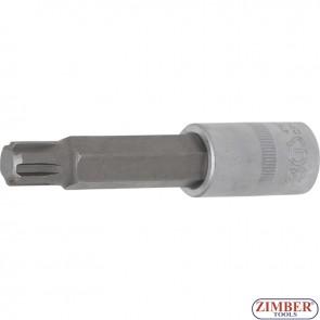 "Bit Socket | length 100 mm | 12.5 mm (1/2"") Drive | Spline (for RIBE) | M13 - 4167 - BGS technic."