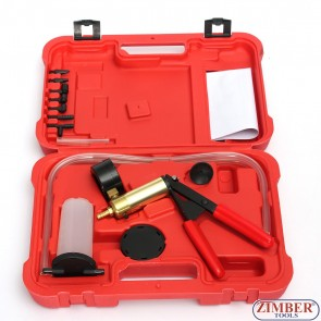 Brake Fluid Bleeder Hand Held Vacuum Pistol Pump Tester Kit, ZT-04099 - SMANN TOOLS