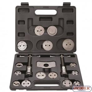 Brake Piston Reset Tool Set   18 pcs.-1110-BGS technic.