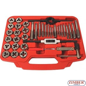 Tap and Die Set  40-piece  -ZR-36TDS40 - ZIMBER-TOOLS