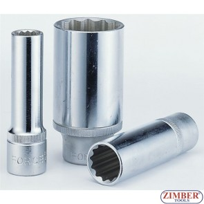 "1/2"" Dr. 15-mm  Deep Socket - 12-pt - 5497715 - FORCE."