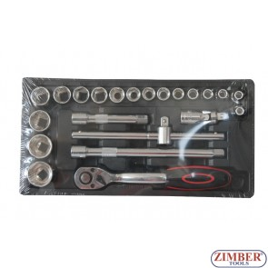 "Socket set 31pc - 3/8"", ZT-00831 - SMANN TOOLS."