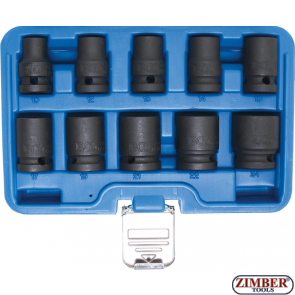 "Impact Socket Set, Hexagon | 12.5 mm (1/2"") Drive 