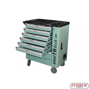 Roller Tool Cabinet With Hand Tools, 7-Drawer - ZK-1607 KRAFTWELLE