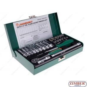 "1/4"" Dr. Socket Wrench Set 25pcs. (ZJ-S04H2125S) - JONNESWAY"