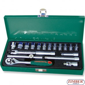 "Socket Set 1/4"" 18pc. (ZJ-S04H2118S) - JONNESWAY"