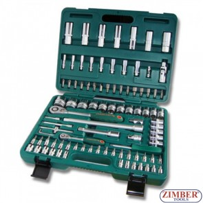 "Bit and socket Set 1/2"" 1/4"" 94pc. (S04H52494S) - JONNESWAY"