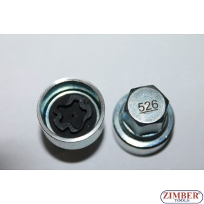 Locking Wheel Nut Key 526 VAG-VW Golf Passat T4- Seat Audi Skoda 526- ZIMBER TOOLS