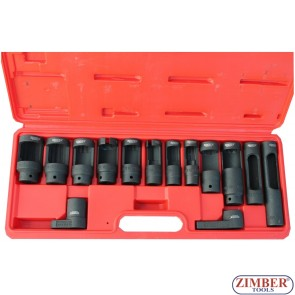 Large injector and sensor socket set 14-pcs -ZR-36OSWS14- ZIMBER TOOLS