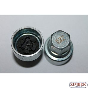 Locking Wheel Nut Key Vag -Volkswagen, Seat Audi Skoda-527- ZIMBER TOOLS