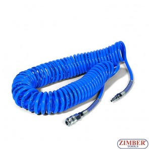 Coiled Pneumatic Hose 15m/6.5x10mm