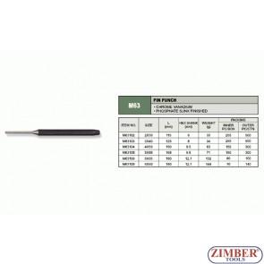 Pin Punch, Black Finish 5 x 55-mm, M63106 - JONNESWAY