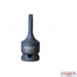 "Impact Bit Socket 1/2"" T50  - ZR-08IBST1250 - ZIMBER TOOLS"