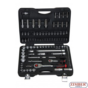 1/4'' & 1/2'' Cr-V Socket Set, 108 pcs. - FORCE