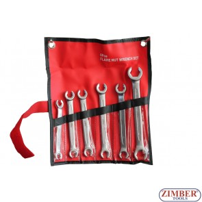 Flare Nut Wrench Set 6Pcs 8-19mm, ZT-17FNWS0601 - ZIMBER TOOLS