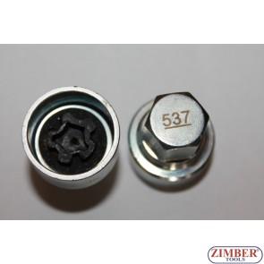 Security Master Locking Wheel Nut Key Vw, Skoda, Audi, Seat , Number 537