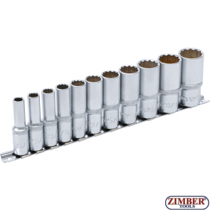 "Socket Set, 12-point, deep | 10 mm (3/8"") Drive 