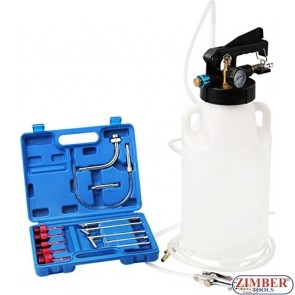 Two Way Pneumatic ATF Oil and Liquid Extractor with 13 pcs ATF / 8L , ZT-04B1091- SMANN TOOLS.