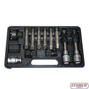 13pcs special bits for alternator pulleys, ZR-36VBBS12 - ZIMBER TOOLS.