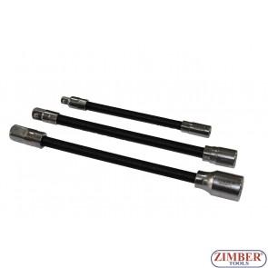 3pcs Flexible Extension Bar Set,ZR-02FEBS03 - ZIMBER TOOLS.