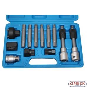 13pcs special bits for alternator pulleys, ZR-36VBBS12 - ZIMBER TOOLS.