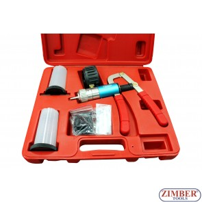 Dual Vacuum & Pressure Pump / Brake Bleeder Kit, ZR-36VPBK- ZIMBER TOOLS.
