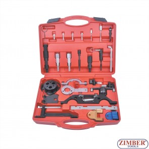 16pcs set of engine timing locking tools, OPEL - FIAT - ALFA ROMEO - LANCIA - FORD - SUZUKI - SAAB - ZT-04290 - SMANN TOOLS